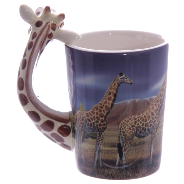tasse giraffe henkel mit savannenbild zootiere. Black Bedroom Furniture Sets. Home Design Ideas