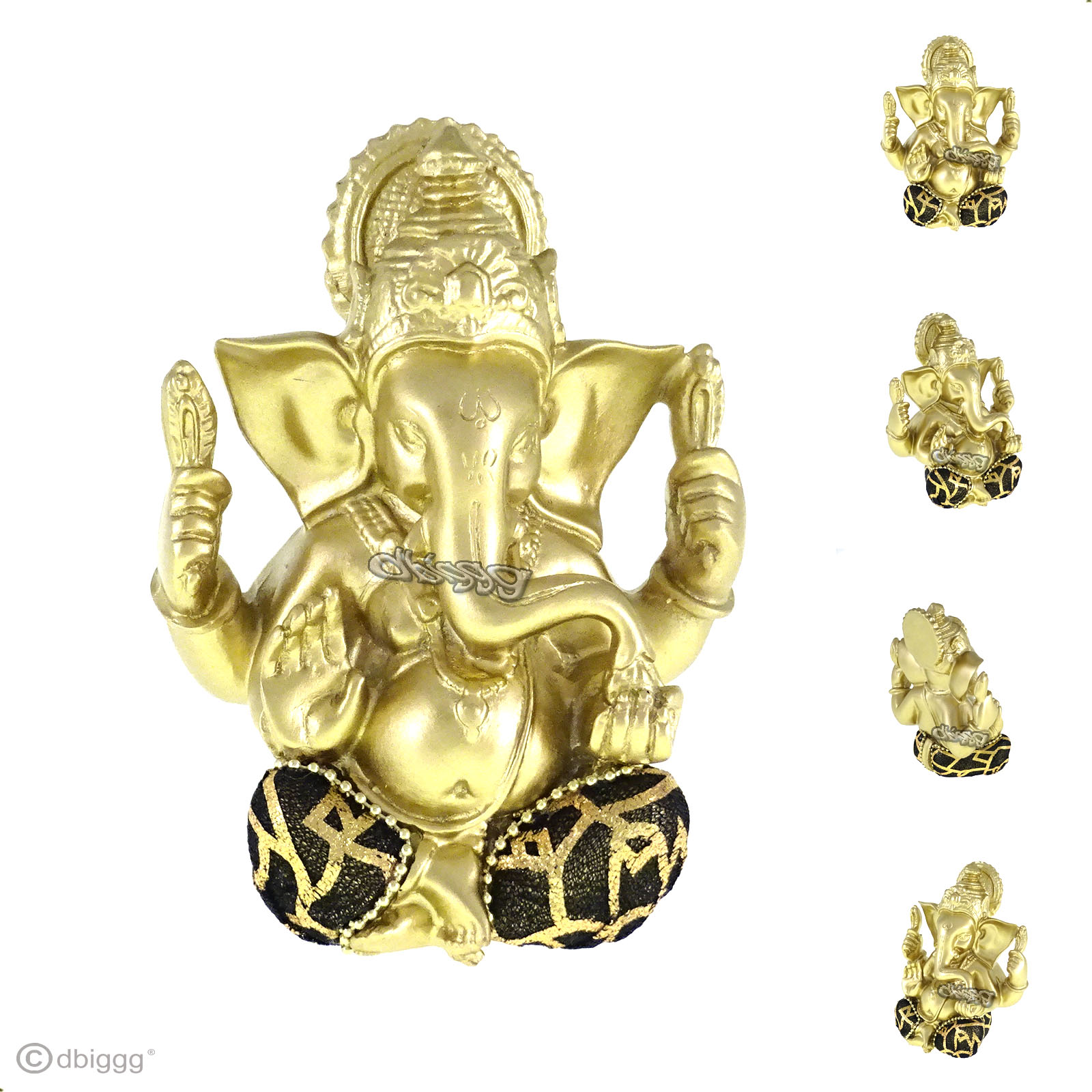 baby ganesha in gold schwarz kleidung aus stoff dekofigur dekoration ebay. Black Bedroom Furniture Sets. Home Design Ideas